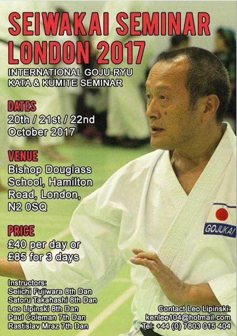 19554148 10155688127580166 3694978175244193949 n Seiwakai International Goju Ryu Seminar Seiichi Fujiwara (8e Dan)