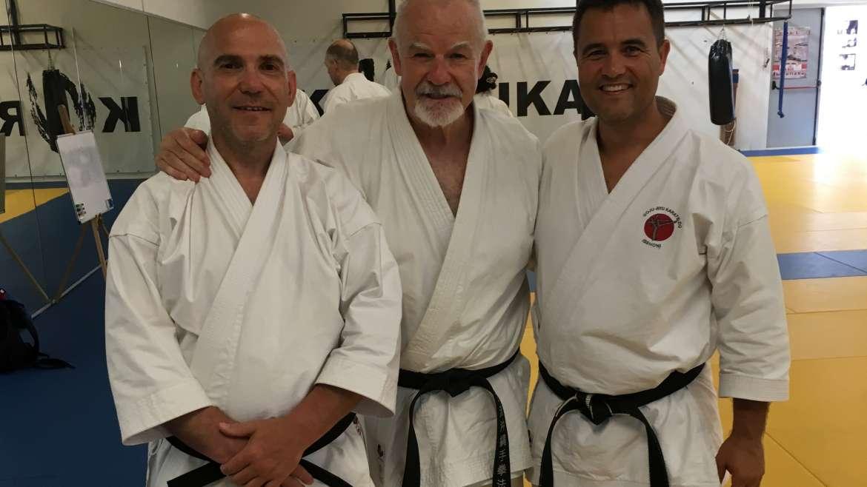 Sensei's ISSHONI volgen training bij Patrick McCarthy