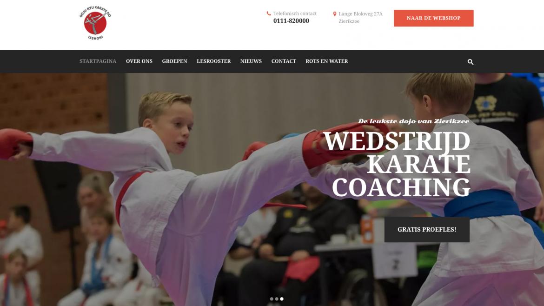 Nieuwe website voor ISSHONI Karate