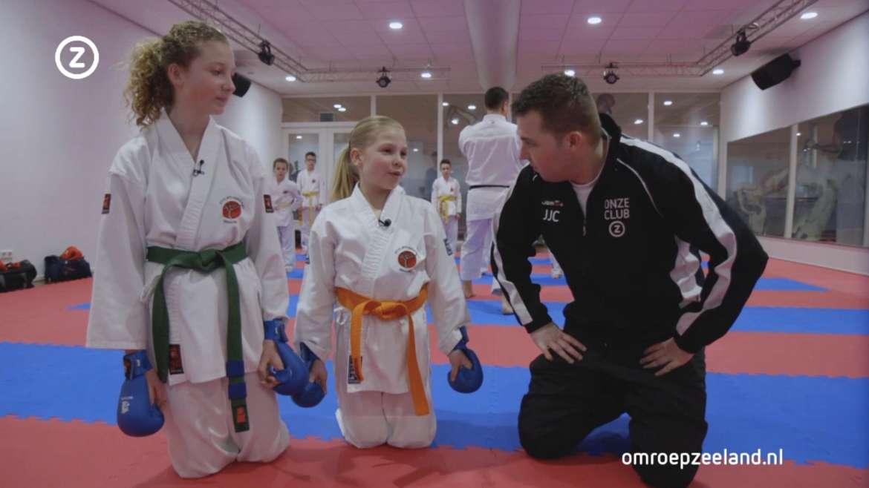 Isshoni Karate in uitzending van 'Onze Club'